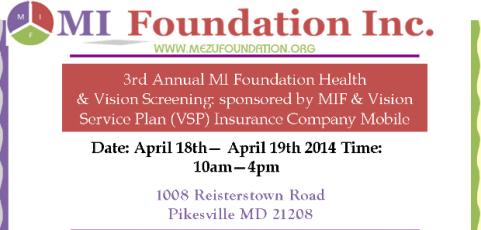 2014 MIF Vision & Health Fair